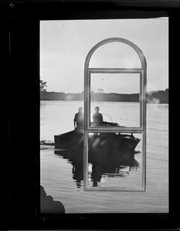 Image: Boat seen through window