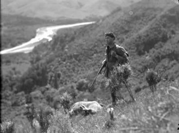 Image: Deer hunter, White Rock, South Wairarapa