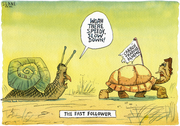 "Image: 'The last follower'. ""Woah there Speedy, slow down!"" 24 May, 2008"