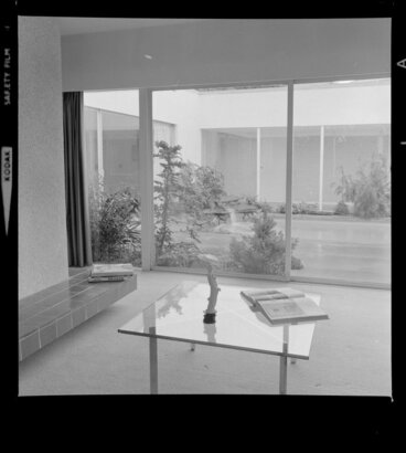 Image: View of the courtyard from the living room, Littlejohn house, Wellington