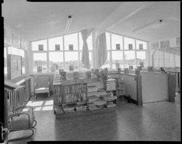 Image: Interior of boys' hostel, Levin