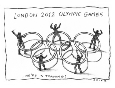 Image: Grosz, Christopher, 1947-:London 2012 Olympic Games...We're in training! - 28 August 2011