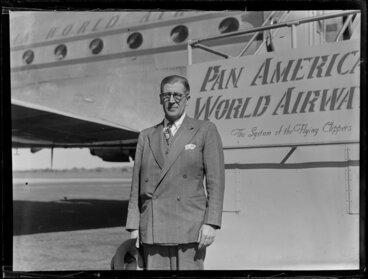Image: Unidentified passengers arriving on Pan American World Airways (PAWA)