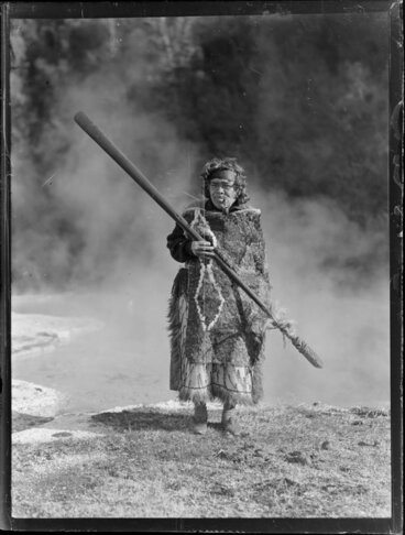Image: Portrait of Māori kuia Marutuna Mohi near thermal pools, Orakei Korako