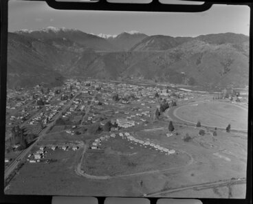 Image: Township of Reefton, including the Reefton Racecourse and the Inangahua River, Buller district, West Coast