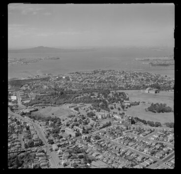 Image: Auckland War Memorial Museum and Domain, including Auckland Hospital in the foreground