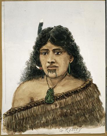 Image: Robley, Horatio Gordon, 1840-1930 :[Maori woman] / G. Robley. [1863 or 1864?]
