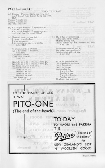 """Image: To the Maori of old it was Pito-one (the end of the beach). today, to Maori and pakeha it is """"Petone"""" (the end of the search) for New Zealand's best in woollen goods."""
