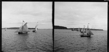 Image: Yacht race on harbour, location unknown