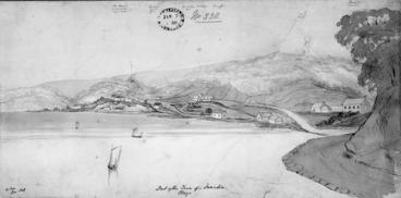 Image: Fox, William 1812-1893 :Part of the town of Dunedin, Otago. W. Fox. Jan. 1849