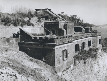 Image: Creator unknown :Photograph of Fort Kelburne at Ngauranga, Wellington, at start of demolition
