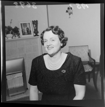 Image: Norma Holyoake, wife of the new Prime Minister, at home in Wellington