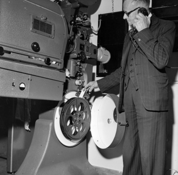 Image: W O Rigarlsford, chief projectionist for the Chief Censor