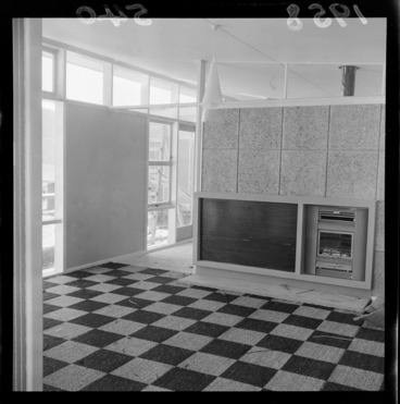 Image: Interior of a model home at Wainuiomata