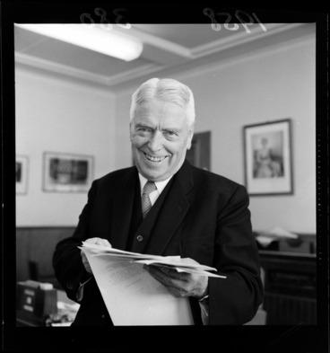 Image: Prime Minister Walter Nash, birthday portrait
