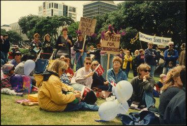 Image: Kindergarten demonstration 1994 - Women's Suffrage Day