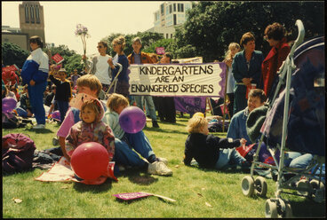 Image: Kindergarten demonstration 1994 - Women's Suffrage Day