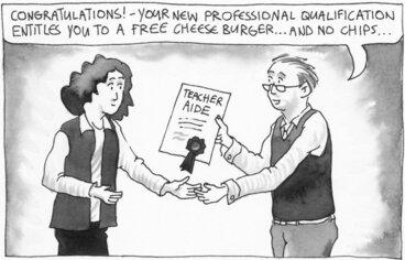 Image: Teacher aide cartoon
