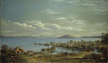 Image: Mokoia Island from Ohinemutu by Charles Blomfield