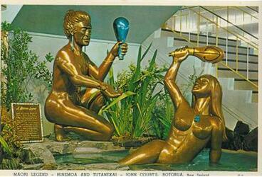 Image: Hinemoa and Tutanekai Sculpture