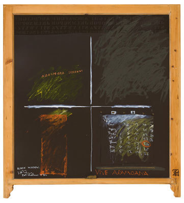 Image: Black window, Port Chalmers.