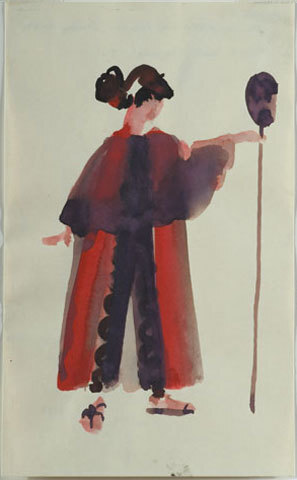 Image: The temptations of Œdipus by Baxter [costume design Ismene].