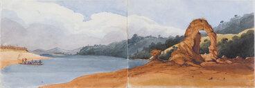 Image: Nelson. Rocks in Blind Bay, near Motueka about 1846.