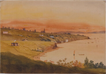 Image: Auckland, from St George's Bay, 1856 (above Mr Blackett's house).