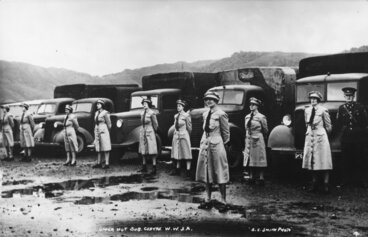 Image: Women's War Service Auxiliary Transport volunteers, Trentham Camp.