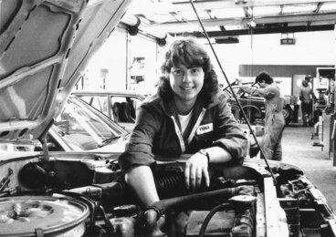 Image: Fiona Lapsley, apprentice motor mechanic, Rosscars Toyota.
