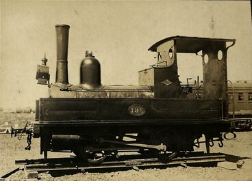 Image: New Zealand Railways locomotive, A 0-4-0 T class; number 196