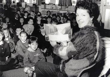 Image: Writer Pat Quinn at St Brendan's School