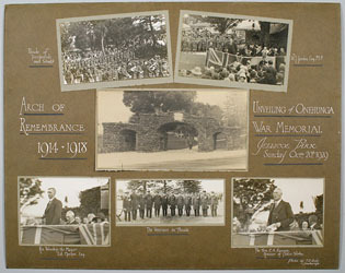 Image: Unveiling of the Onehunga War Memorial Arch of Remembrance 1914-1918 Jellicoe Park 1929