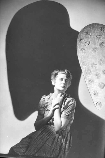 Image: 3/4 portrait of Ngaio Marsh