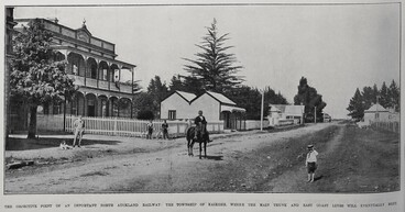 Image: THE OBJECTIVE POINT OF AN IMPORTANT NORTH AUCKLAND RAILWAY: THE TOWNSHIP OF KAIKOHE, WHERE THE MAIN TRUNK AND EAST COAST LINES WILL EVENTUALLY MEET.