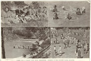 Image: SUMMER DAYS IN HOLIDAY SPORT ROUND CHRISTCHURCH: SNAPSHOTS AT SOME FAVOURED COASTAL LOCALITIES