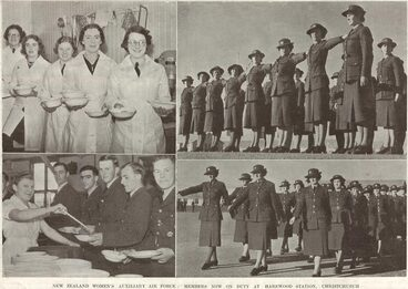 Image: NEW ZEALAND WOMEN'S AUXILIARY AIR FORCE: MEMBERS NOW ON DUTY AT HAREWOOD STATION, CHRISTCHURCH