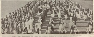 Image: WOMEN'S WAR ORGANISATIONS ON PARADE AT AUCKLAND: MEMBERS OF SERVICE AUXILIARY AND NURSING AIDS