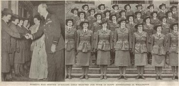 Image: WOMEN'S WAR SERVICE AUXILIARY GIRLS SELECTED FOR WORK IN EGYPT ENTERTAINED IN WELLINGTON