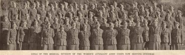 Image: GIRLS OF THE MEDICAL DIVISION OF THE WOMEN'S AUXILIARY ARMY CORPS NOW SERVING OVERSEAS