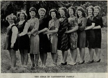 Image: TEN GIRLS IN CANTERBURY FAMILY