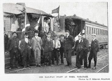 Image: The railway staff at Toko, Taranaki