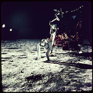 Image: Apollo 11 moon landing, 1969