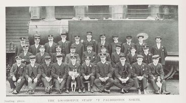Image: THE LOCOMOTIVE STAFF AT PALMERSTON NORTH.