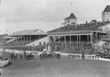 Image: Crowds at Ellerslie Racecourse