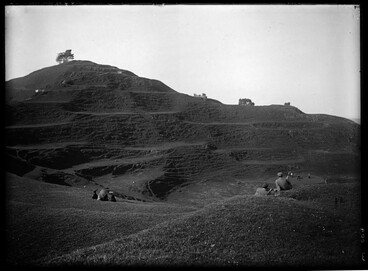Image: Showing the summit of One Tree Hill and golf links, (area....