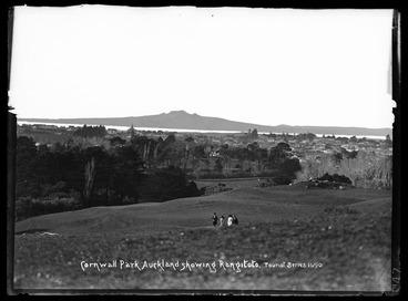 Image: Cornwall Park Auckland showing Rangitoto Tourist Series 1690