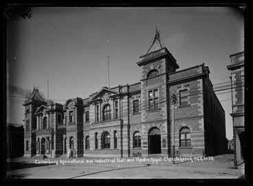 Image: Canterbury Agricultural and Industrial Hall and Theatre Royal Christchurch FGR 6179