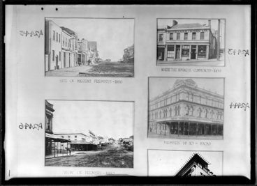 Image: Showing four Milne and Choyce buildings 1944