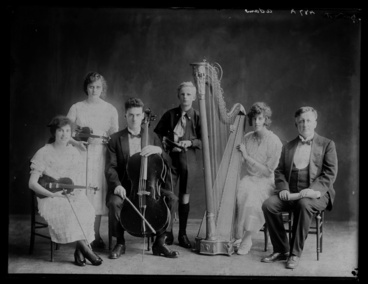 Image: Portrait of a small music group